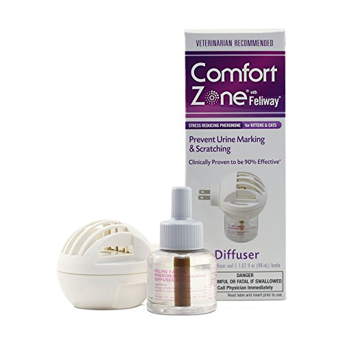 Comfort Zone with Feliway Diffuser Kit for Cat Calming, 1 Diffuser and 1 Refill