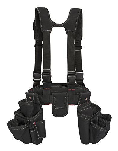 Dickies 4-Piece Carpenter's Rig, Padded Tool Belt Suspenders, Cooling Mesh, Tool Belt, Steel Buckle,...