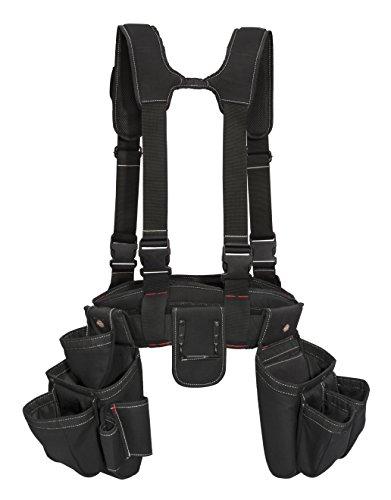 Dickies 4-Piece Carpenter's Rig, Padded Tool Belt Suspenders, Cooling Mesh, Tool Belt, Steel Buckle, Black