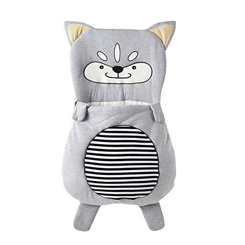 YWQQDP Sac De Couchage Anti-Coups pour Bébé,Safe Nights Cotton Infant Boy Girls Sleeping Sack Baby Wrap Blanket Autumn and Winter Outdoor Poussette Bag,85cm(0~1years)