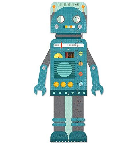 Petit Collage Toise pliable, Bleu robot