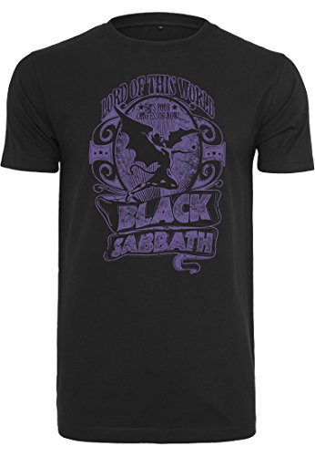 MERCHCODE Black Sabbath LOTW - Camiseta para Hombre con diseño y Texto en inglés, Hombre, Camiseta, MC033, Negro, Extra-Small