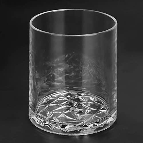 Vaso de acrílico para bebidas, vaso de agua de plástico de 300 ml, vaso de vino de jugo transparente, perfecto para el hogar, picnic, fiesta(Transparente)