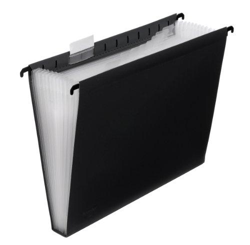 FolderSys 12er Hänge-Fächertasche A4, mit Taben, schwarz, VE 1 Stück, 7004130