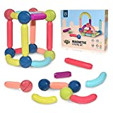 BAKAM Magnetic Building Blocks for Kids Ages 4-8, STEM Construction Toys for Boys and Girls, Large Size Magnetic Sticks and Balls Game Set for Kid's Early Educational Learning