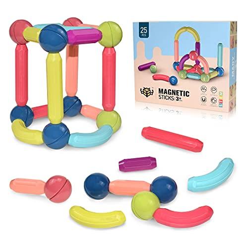 BAKAM Magnetic Building Blocks for Kids Ages 4-8, STEM Construction Toys for Boys and Girls, Large...