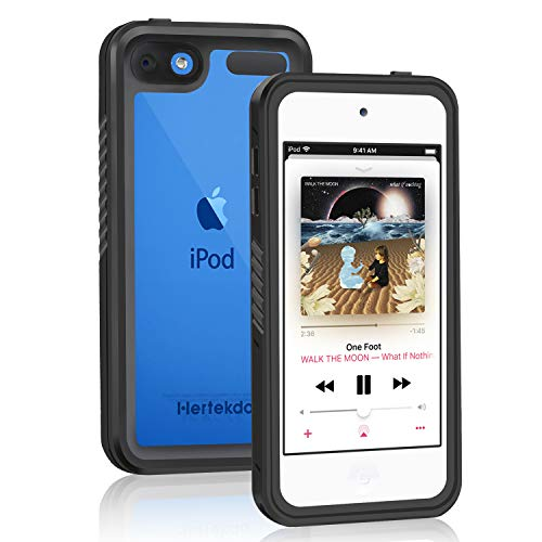 iPod Touch Waterproof Case, Hertekdo Waterproof Case for iPod 7 iPod 6 iPod 5 Shockproof Dustproof Anti-Scratch Case with Kickstand Ideal for iPod Touch 5th/6th/7th Generation