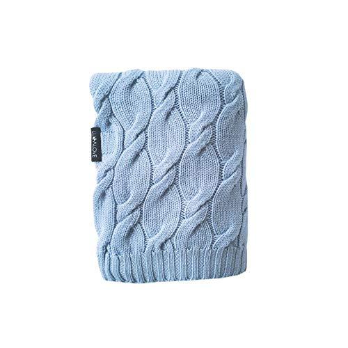 LULLALOVE Decke aus Merinowolle, Blau