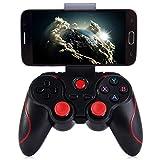 Controlador de juegos Android, controlador de juegos inalámbrico Bluetooth Gamepad Joystick con soporte de soporte ajustable for tabletas Android Smartphone / PC Televisores inteligentes / cajas de TV