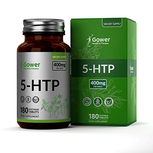 GH Griffonia Simplicifolia | 5HTP 400mg extrait de Graines | 5 HTP Puissant Somnifère pour Dormir | 180 Comprimés végétaliens haute teneur | Aide à équilibre l'humeur