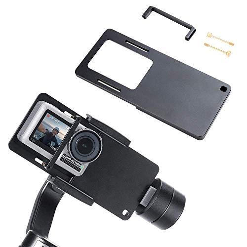 Flycoo2 - Soporte de montaje de cámara de acción para DJI Osmo Action/GoPro Hero 3/3+/4/5/Xiaomi Mijia 4K adaptador de estabilizador Handheld Gimbal