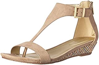 Kenneth Cole REACTION Women's Gal T-Strap Low Wedge Sandal