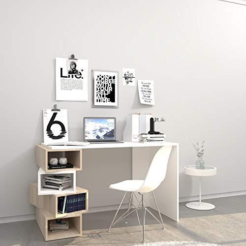 Home MIA - Escritorio de diseño Damon - L 120 x Alt. 75 cm, Color Blanco.