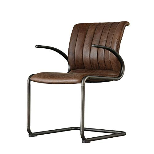 XBSD Koeienhuid PU-stoelen, smeedijzeren frame, moderne woonkamermeubels, hoog rugontwerp past op uw rug, comfort en ontspanning, voor uw keuken, eetkamer.