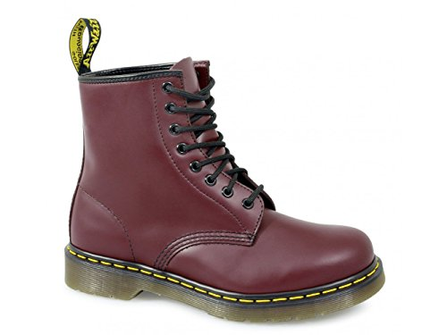 Dr. Martens Adult 1460z Classic Airwair 8 Eyelet Boots UK 6 Cherry Red Smooth