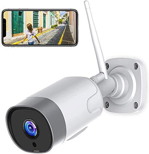 Cámaras de Vigilancia WiFi Exterior/Interior, SUPEREYE 1080P Cámara Seguridad Puede Trabajar con Alexa, Actualización 5dBi Antena Wi-Fi más Fuerte, con IP66, Visión Nocturna, Detección de Movimiento