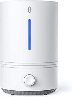 TaoTronics TT-AH027-NEW Top Fill, 4.3L Cool Mist Humidifier for for Bedroom Nursery [BPA Free], Easy to Clean, 17-36 Hours, Auto Shut Off, Blue Mood Light, White