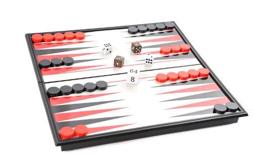 Azerus Línea Standard: Backgammon clásico, tablero con piezas magnéticas, tamaño estándar M...
