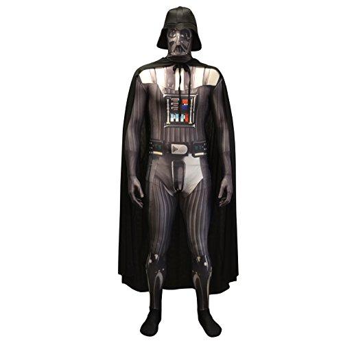 Morphsuits Offizielles Star Wars Darth Vader Kostüm Ganzkörperanzug Halloween Karneval - L (163cm-175cm)