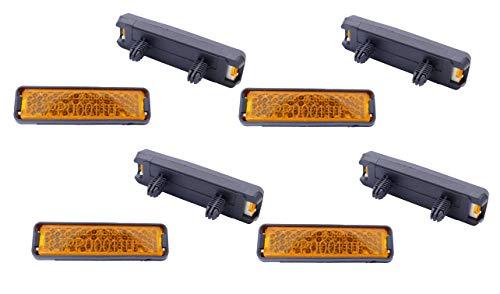 P4B | Reflektoren für Fahrrad Pedale | Pedal Reflektor (A) 8X Reflektoren zum Einklicken