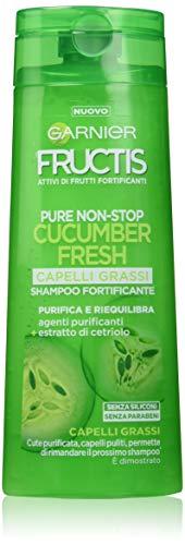 Garnier Fructis – Champú fortificante para cabellos grasos – Purifica y equilibra el cuero cabelludo – 250 ml – [paquete de 4]