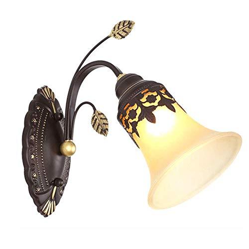 Retro wandlamp in landelijke stijl, creatief, elegante wandlamp van glas, voor slaapkamer, nachtkastje, wandlamp, vintage lampen (E27)