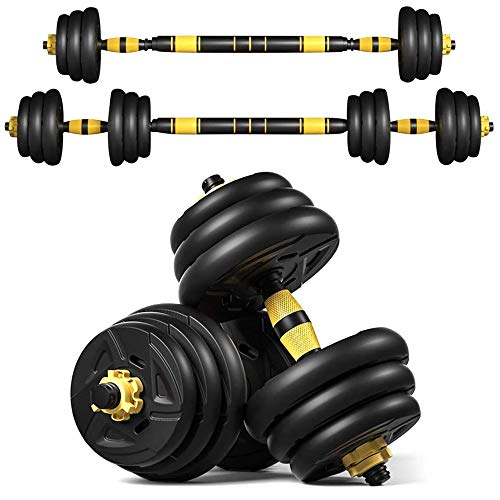 VLVEE Adjustable Weights Dumbbells Set Home Fitness Weight Set, 44 LBS 20kg Gym Workout Exercise Training Dumbbell Pairs with Connecting Rod for Men Women