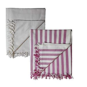 Riyashree Organic Cotton Silky Soft Bhagalpuri Dull chadar Quilt for All Season ( 53*96 in ) Combo Pack of 2 RiCoDull 13…