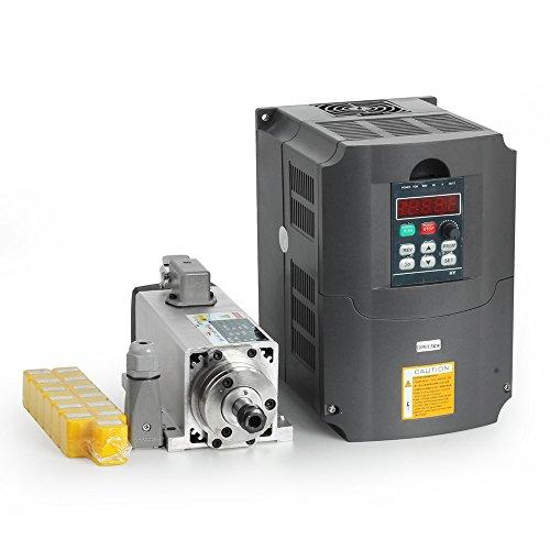 1.5kw air cooled spindle motor cnc spindle motor + 220V/1.5KW inverter + 1set er11 Square milling machine spindle
