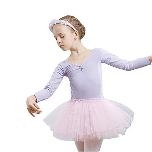 KSITH Kinderdans Kostuums Meisjes Ballet Rokken met lange mouwen Herfst en Winter Kinderkleding