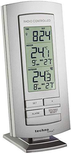 Technoline estación meteorológica WS 9140-IT con radio reloj e indicador de temperatura interior y exterior, Silber-Silber, pack de 1 unidad