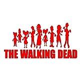 A/X Sticker de Carro 19,7 cm * 9,6 cm calcomanía de Zombies Divertidas Figuras de Palo de la Horda con la Pegatina de Coche Walking Dead Vinilo gráfico S8-1074Rojo