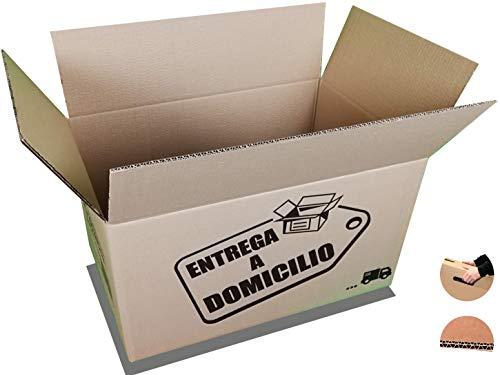 Chely Intermarket, Cajas de cartón GRANDES para mudanzas 60x40x40cm (Pack 10uds) Canal doble más rígido, práctico y consistente | Fabricadas en España | 100% reciclables (53643-60x40x40cm-10,00)