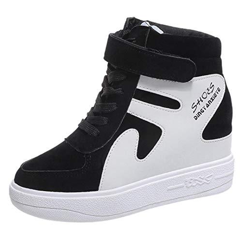 Zapatillas de Cuña Plataforma Deportivo de Terciopelo para Mujer Otoño Invierno 2018 Moda PAOLIAN Cómodos Zapatos de Alta Ayuda Señora Casual Calzado