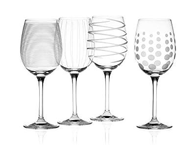 Creative Tops Mikasa Cheers de Cristal Copas de Vino Blanco, Juego de 4, Multi-Color