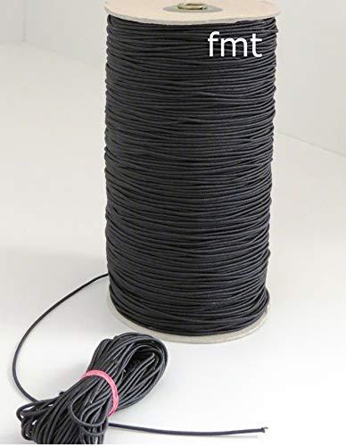 MB Gummikordel, 2 mm Bandstärke, Bandfarbe schwarz, 65{a8eea781e1263b346bdaa5d0e2e009a7e67982f4cddf6ac01c37ece2eea9af3c} Dehnung, 10 Meter am Stück