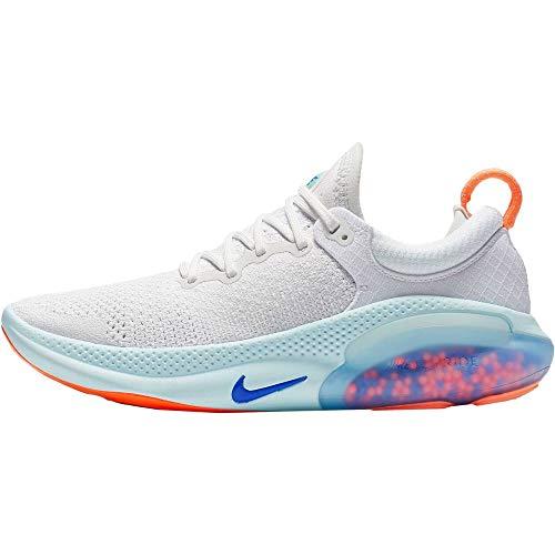 Nike Women's Joyride Run Flyknit Running Shoes (8, White/Racer Blue/Platinum Tint)