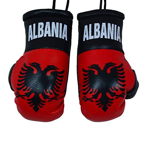 ME MAXEQUIP Mini-Boxhandschuhe mit albanischer Flagge, für Auto-Innenraum, Albanien, Ornament, Spiegel, Rückansicht zum Aufhängen