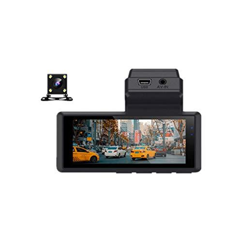 Grabador de video de doble lente 3 pulgadas Mini Dash Cam WDR Super Night Vision 1080P 24h Monitor de estacionamiento Cámara de tablero de automóvil con cámara trasera