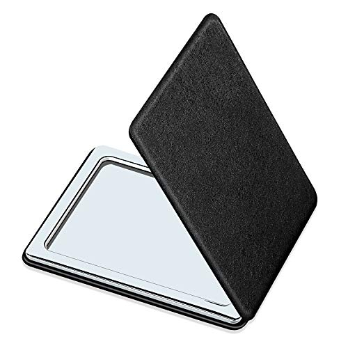 Compact Mirror for Men, Women and Girls, Black Travel Makeup...