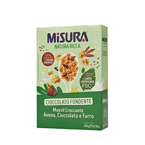Misura Cereali Colazione Natura Ricca | Muesli croccante Avena, Cioccolato e Farro | Confezione da...
