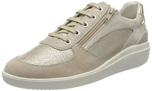 Geox D TAHINA A, Zapatillas Mujer, Platinum Beige, 42 EU