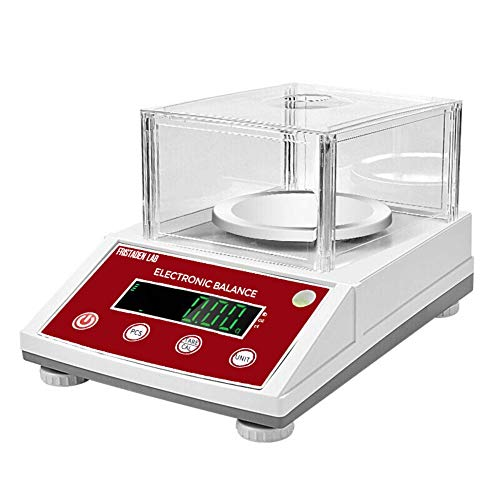American Fristaden Lab Analytical Precision Scale 2000g x 0.01g | 01 Gram Scale Weighs Grams, Ounces, Pounds, Carats | High Accuracy Digital Balance for Laboratory, Jewelry, Business | 1YR Warranty