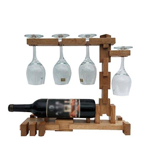 Porte-bouteille GAOLILI Décorations en Bois de Support de Tasse de Barre de vin de Support à la Maison créatrice en Bois européenne à la Maison (Couleur : B)