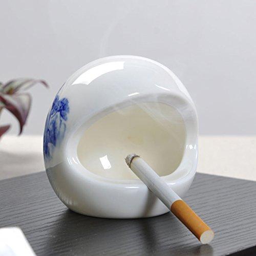 CKH Aslabak keramiek huisgeschenk creatieve inkt handgeschilderd auto sigaret asbak mini trompet capaciteit