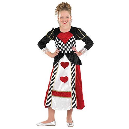 Fun Shack Roja Reina De Corazones Disfraz para Niñas - M