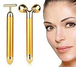 gold skin face massager