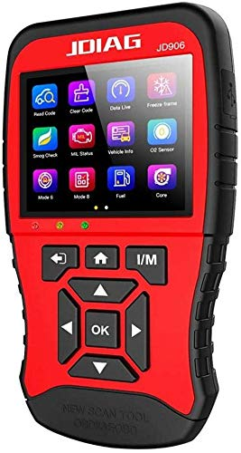 Obd2 Diagnosegerät, Autolink JD906 Universal-OBD2-Lesegerät Auto-Diagnosescanner-Tool Fahrzeugmotor-Fehlercode-Lesegerät (Rot)