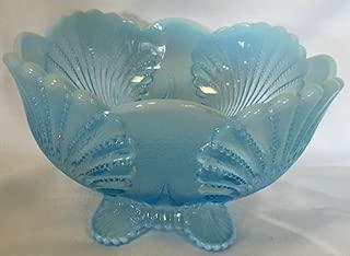 Berry Bowl - Shell - Blue Opalescent Glass - Mosser USA