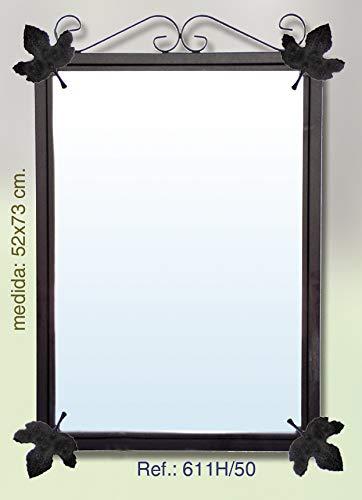 Rustiluz Espejo de forja para baño 611h